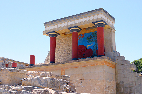 Knossos Photograph - Knossos North Gate View by Paul Cowan