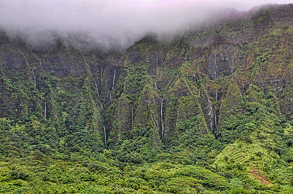 Hawaii Photograph - Koolau Waterfalls by Dan McManus