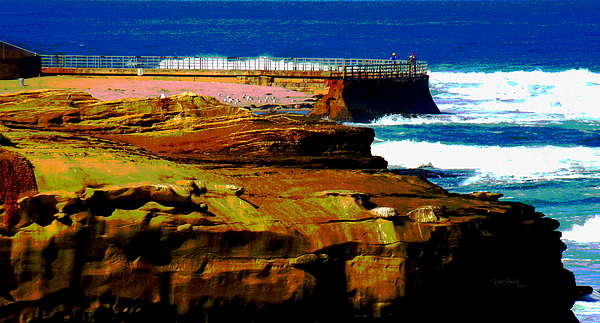 La Jolla Photograph - La Jolla Rocks 2 Wall by Russ Harris