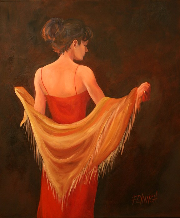 Woman Painting - Lady In Red by Lynn Chatman