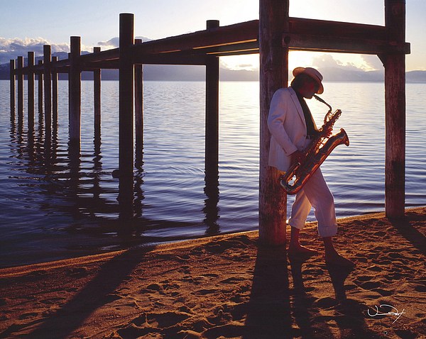 Beach Photograph - Lake Tahoe Sax by Vance Fox