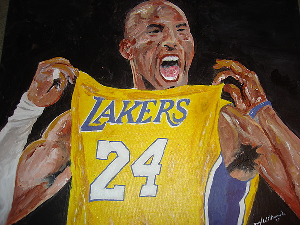 Kobe Bryant Painting - Lakers 24 by Daryl Williams Jr