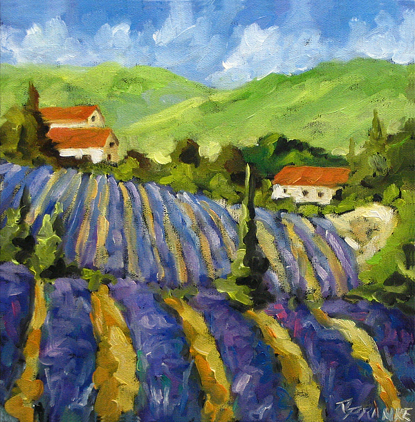 Art Painting - Lavender Scene by Richard T Pranke