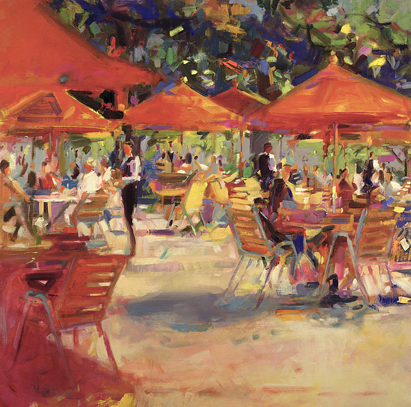 Le cafe du jardin painting by peter graham for Cafe du jardin restaurant covent garden