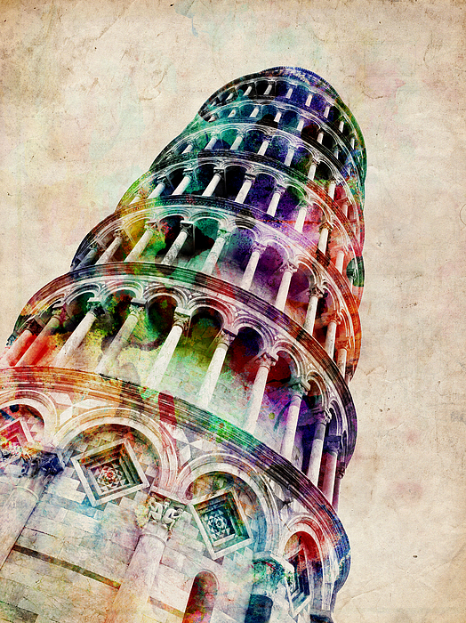 Leaning Tower Of Pisa Digital Art