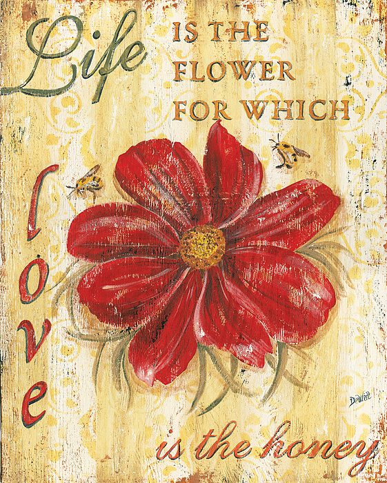 Life Is The Flower Painting