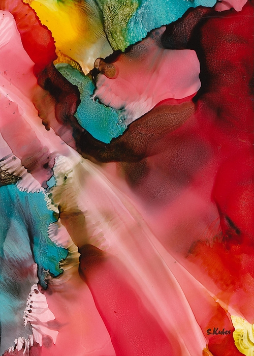 Abstract Painting - Light From Above by Susan Kubes