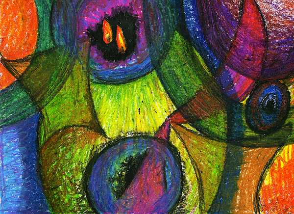 Christian Abstract Drawing - Light In The Darkness by Cassandra Donnelly