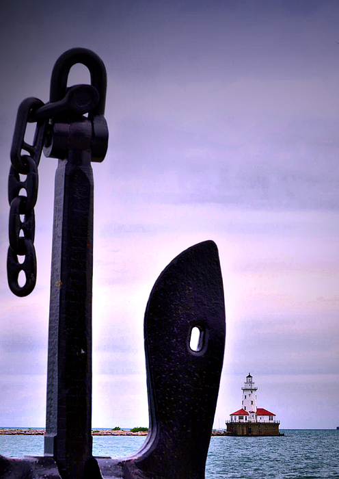 Lighthouse Anchored Photograph