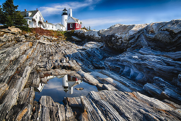 Architecture Photograph - Lighthouse Reflections by George Oze