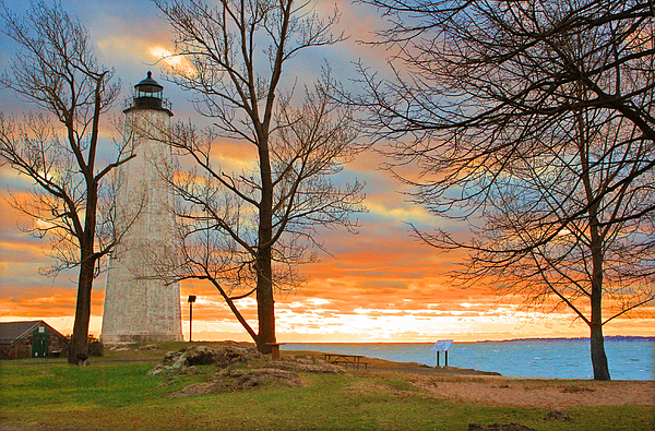 Lighthouse Photograph - Lighthouse Sunset by Cathy Leite Photography