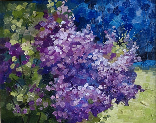 Lilac Flowers Flower Floral Composition Painting By