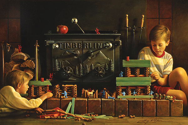 Lincoln Logs Painting