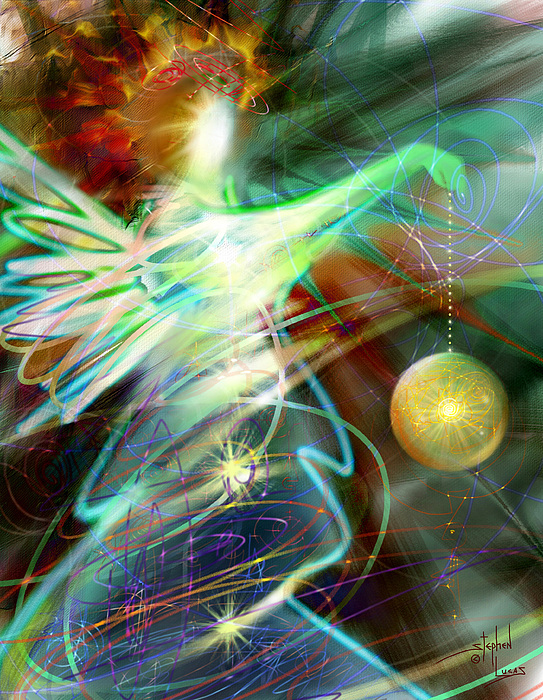 Angel Digital Art - Lite Brought Forth By The Archkeeper by Stephen Lucas