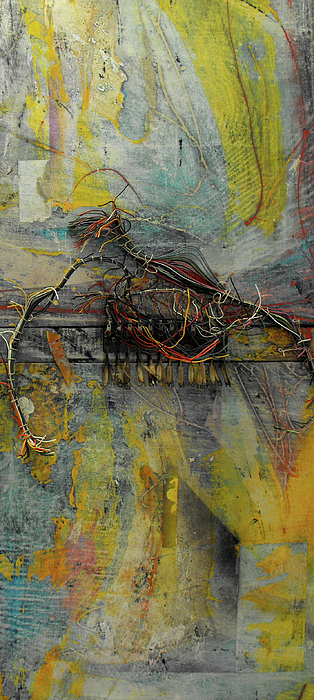 2 Panel Mixed Media Painting - Lost by Ralph Levesque