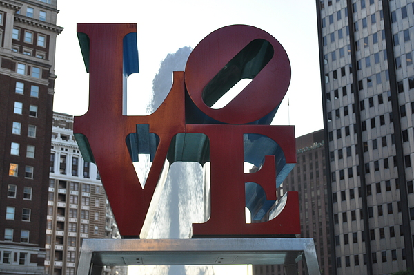 Philly Photograph - Love by Brynn Ditsche