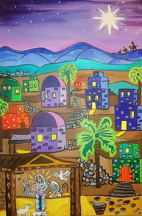 Jesus Painting - Love In The City Of David by Stephanie Temple