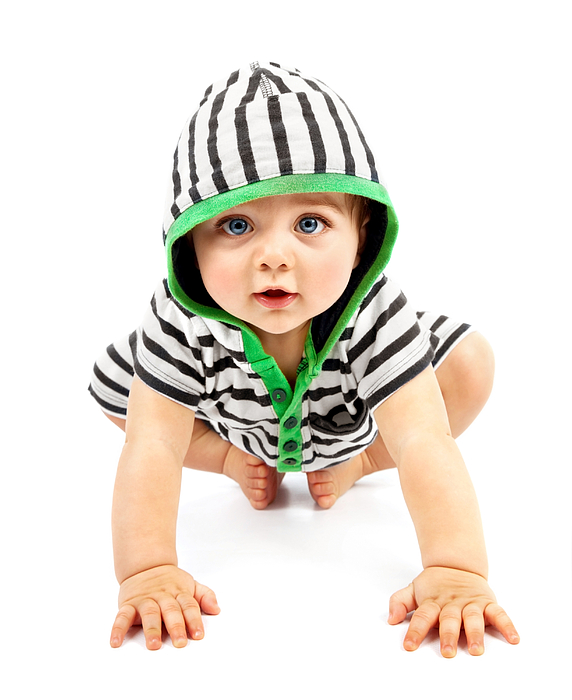 Adorable Photograph - Lovely Boy Isolated On White Background by Anna Om