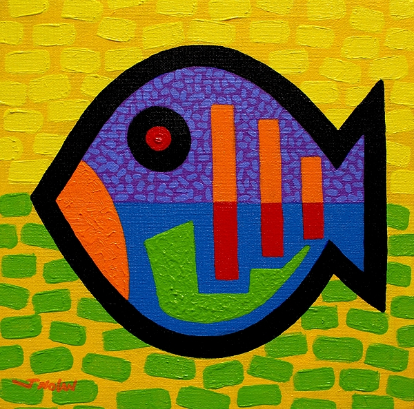 Stylised Painting - Lucky Fish II  by John  Nolan