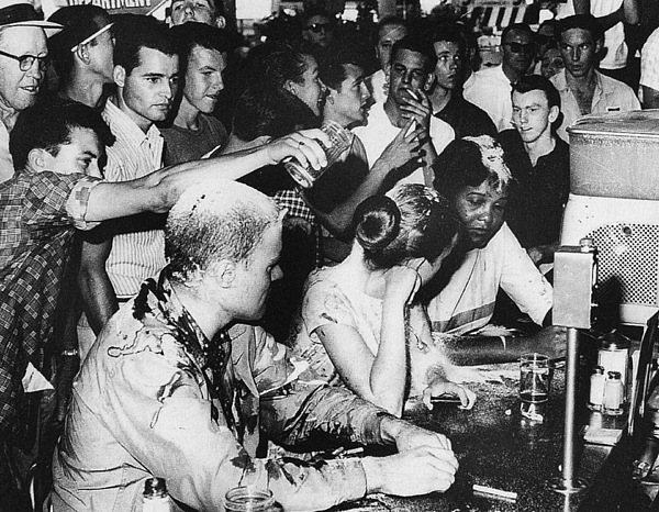 1963 Photograph - Lunch Counter Sit-in, 1963 by Granger