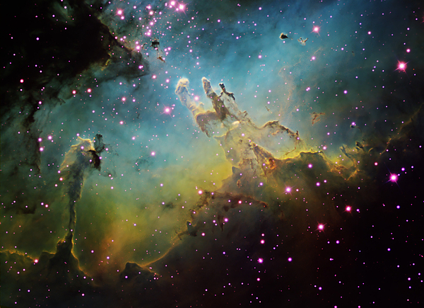 Astronomy Photograph - M16 The Eagle Nebula by Ken Crawford