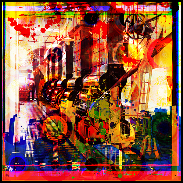 Digital Photographic Vector Montage Painting - Machine Age-1 by Gary Grayson