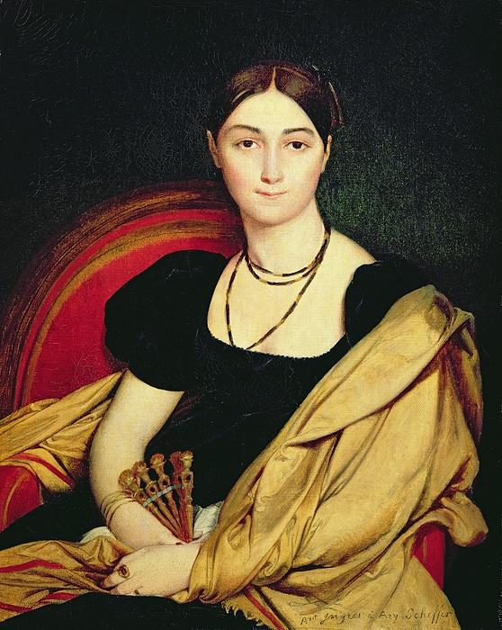 Madame Painting - Madame Devaucay by Jean Auguste Dominique Ingres