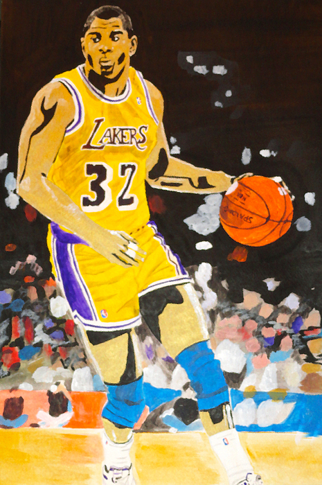 Magic Johnson Painting