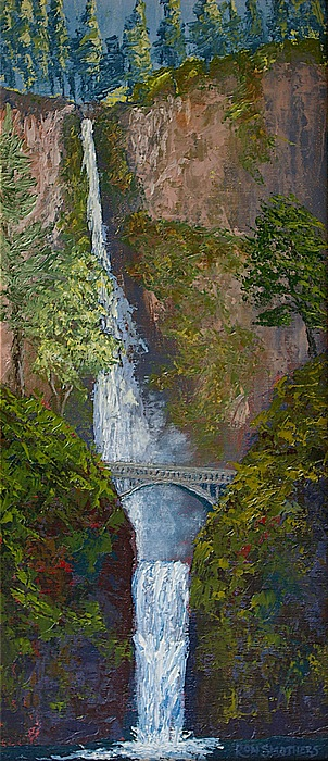 Waterscape Painting - Majestic Multnomah by Ron Smothers