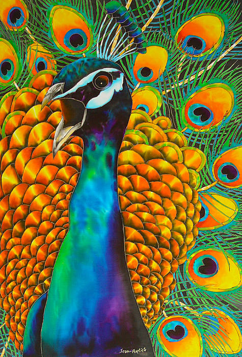 Peacock Painting Painting - Majestic Peacock by Daniel Jean-Baptiste