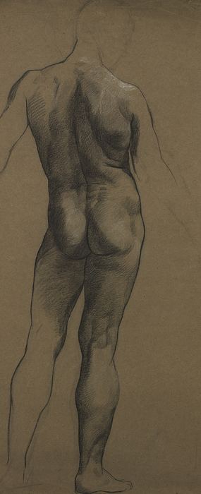 Nude Painting - Male Nude Study by Evelyn De Morgan