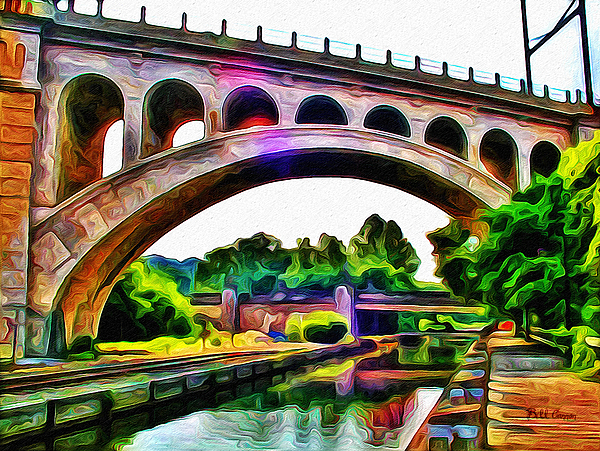 Manayunk Canal And Bridge Photograph - Manayunk Canal And Bridge by Bill Cannon