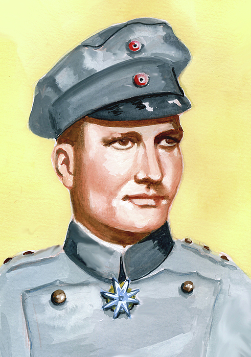 Military Portraits Painting - Manfred Von Richtofen by Murray McLeod