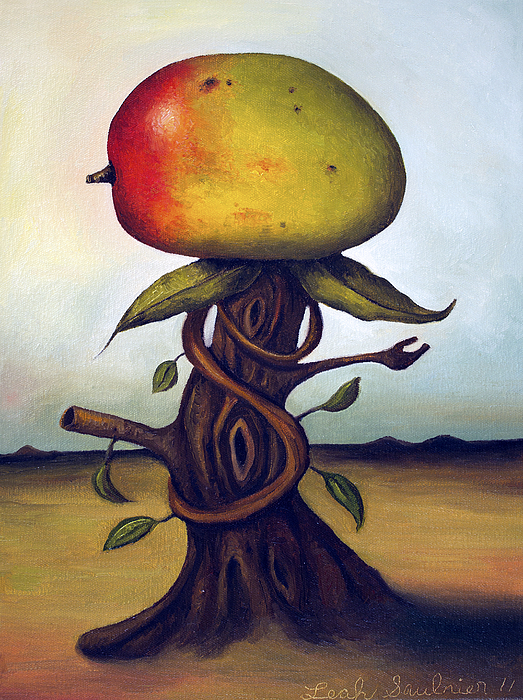 Fruit Painting - Mango Tree Aka Senor Mango by Leah Saulnier The Painting Maniac
