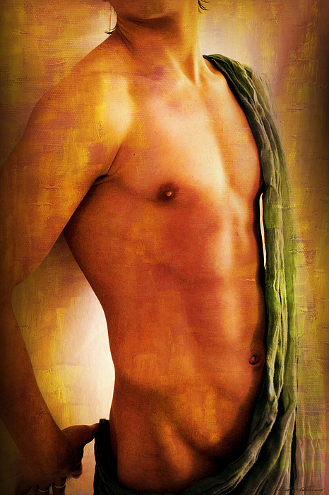 Artistic Nude  Painting - Manipulation In Yellow by Mark Ashkenazi