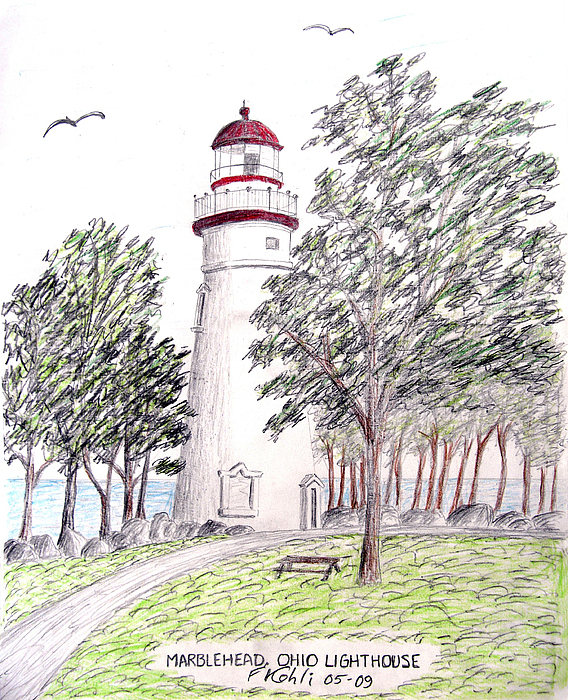 Marblehead Ohio Lighthouse Drawing