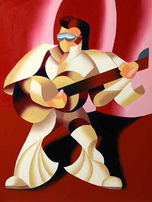 Elvis Painting - Mark Webster - Its Good To Be The King by Mark Webster