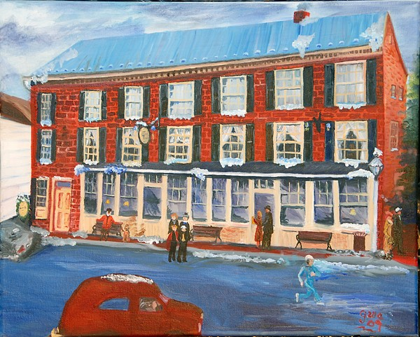 Inns Painting - Mealeys Tavern by Gloria Condon