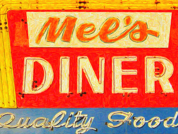 Mels Diner Photograph - Mels Diner by Wingsdomain Art and Photography