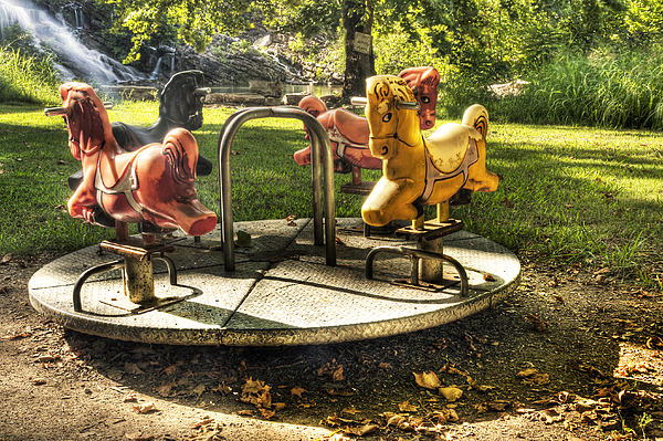 Park Photograph - Merry-go-round by Tamyra Ayles
