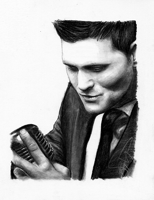 Michael Buble Drawing - Michael Buble by Rosalinda Markle