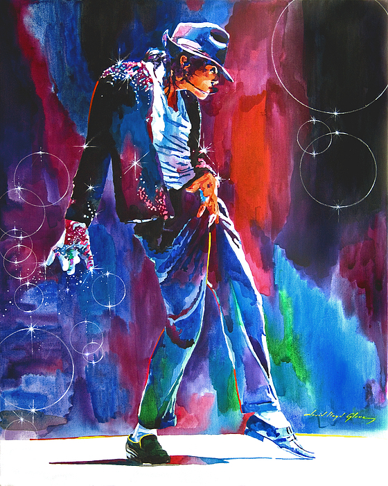 Michael Jackson Painting - Michael Jackson Action by David Lloyd Glover
