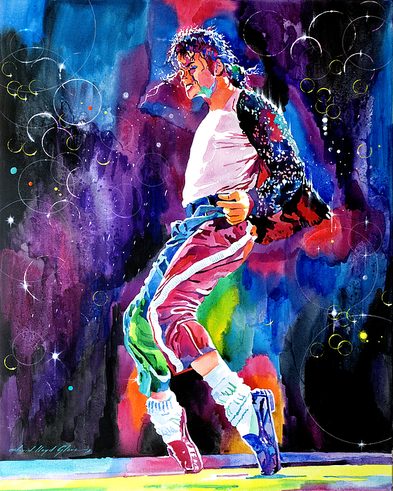 Michael Jackson Painting - Michael Jackson Dance by David Lloyd Glover