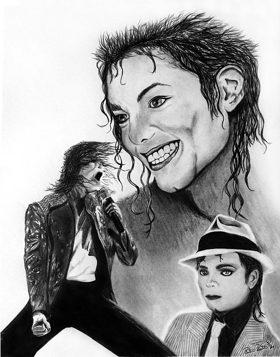 Michael Jackson Faces To Remember Drawing