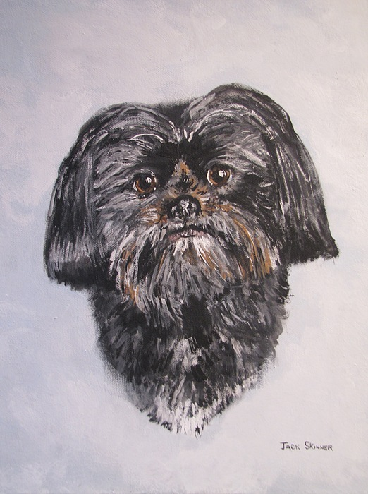 Dog Painting - Mikey by Jack Skinner