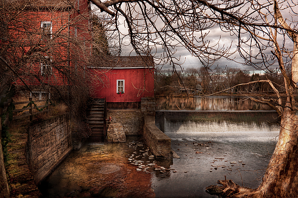 Savad Photograph - Mill - Clinton Nj - The Mill And Wheel by Mike Savad