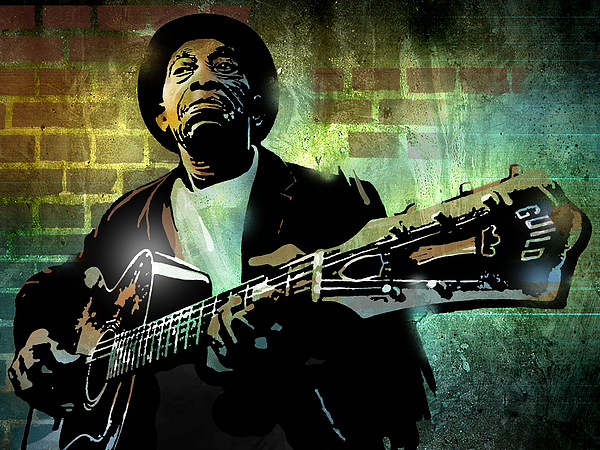 Blues Painting - Mississippi John Hurt by Paul Sachtleben