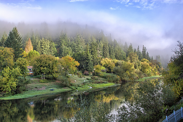Mist Photograph - Misty Russian River by Peter Dyke