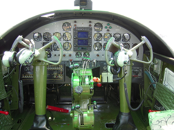 Mitchell B-25 Bomber Cockpit Photograph