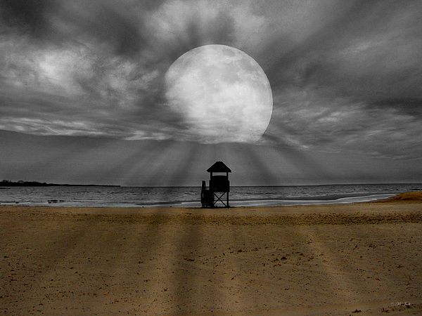 Selective Color Photograph - Moon Beams by Ms Judi